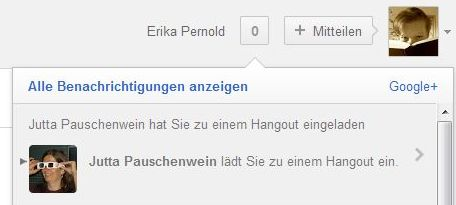 Google+ Benachrichtigung