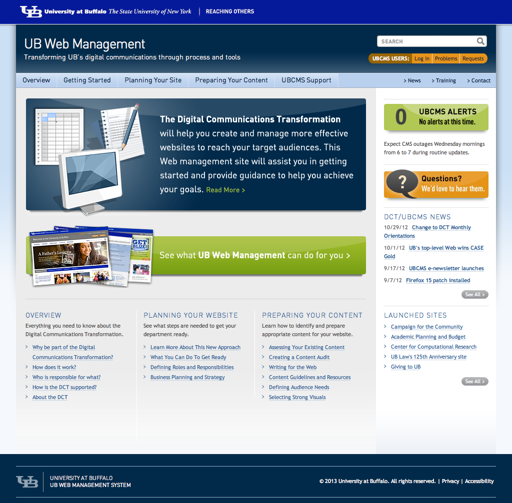 University at Buffalo_UB Web Management