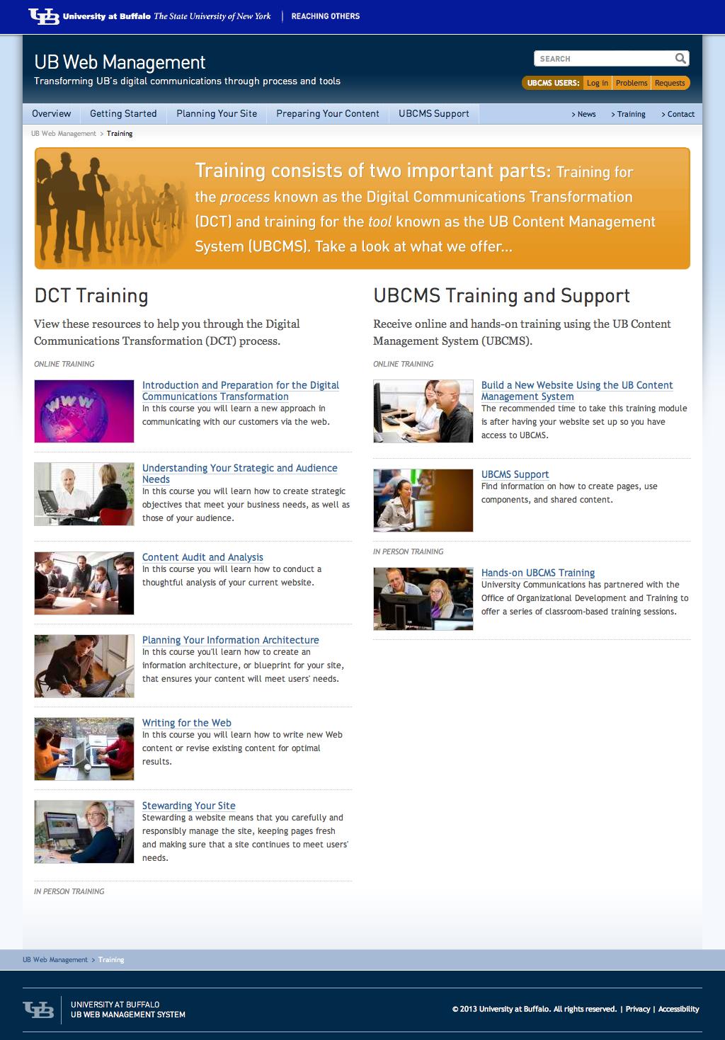 University at Buffalo_UBCMS_Online-Trainings